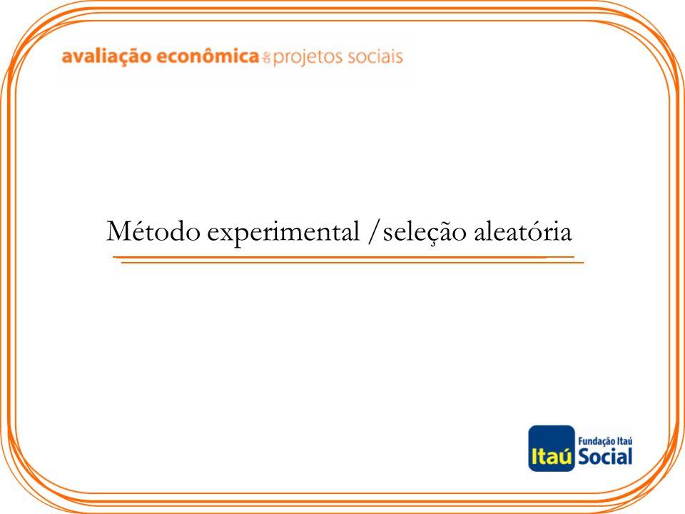Método experimental /seleção aleatória
