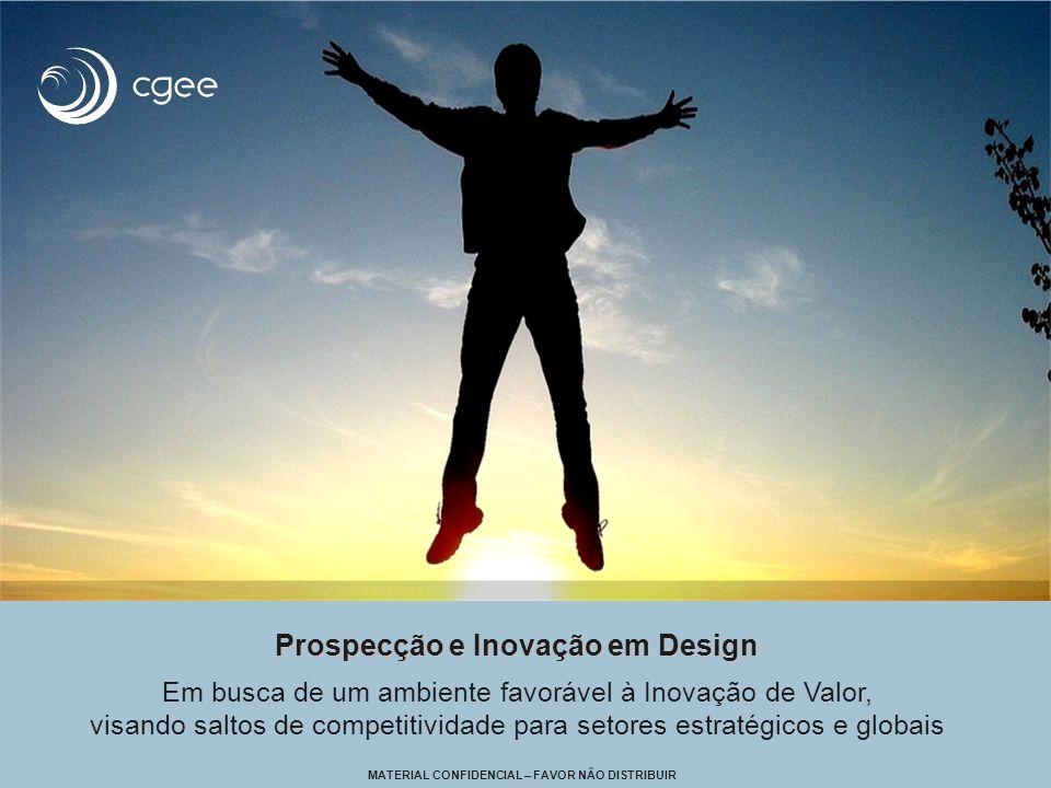 Prospecção e Inovação em Design Prospecção e Inovação em Design Em busca de um ambiente favorável à Inovação de Valor, visando saltos de competitividade para setores estratégicos e globais MATERIAL CONFIDENCIAL – FAVOR NÃO DISTRIBUIR
