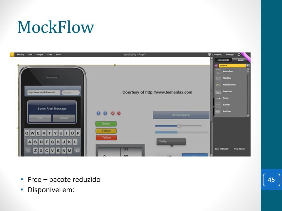 MockFlow Free – pacote reduzido Disponível em: 45