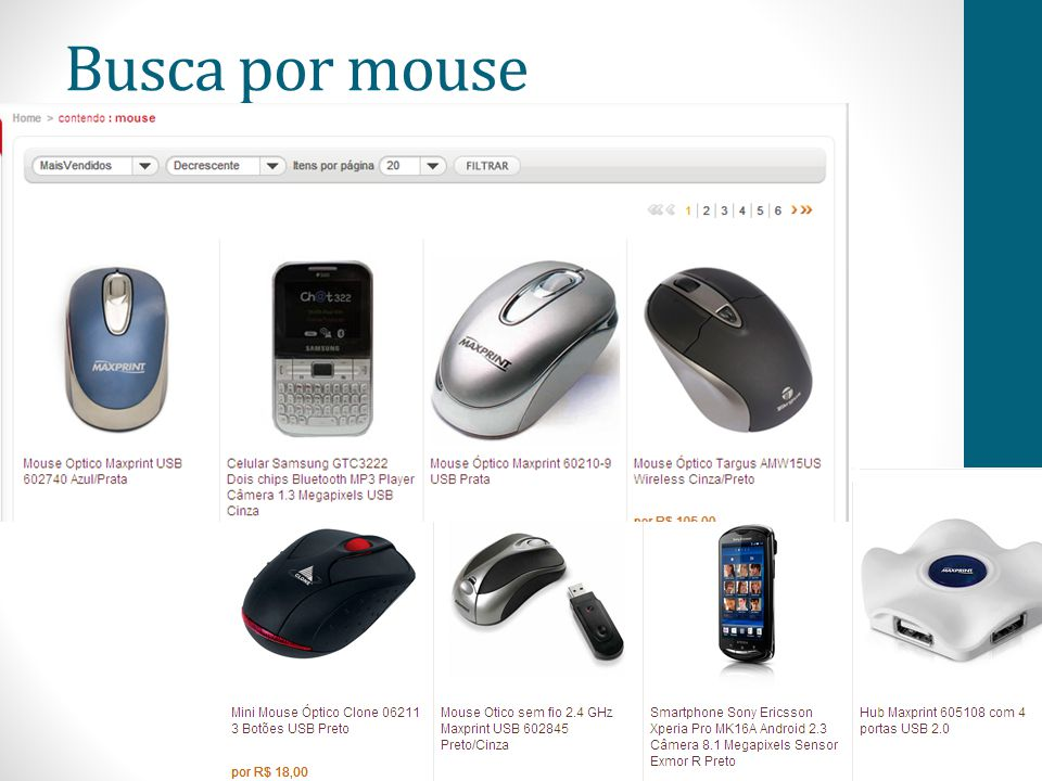 Busca por mouse 60