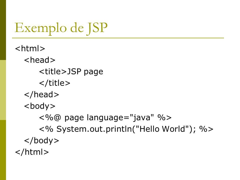 Exemplo de JSP JSP page