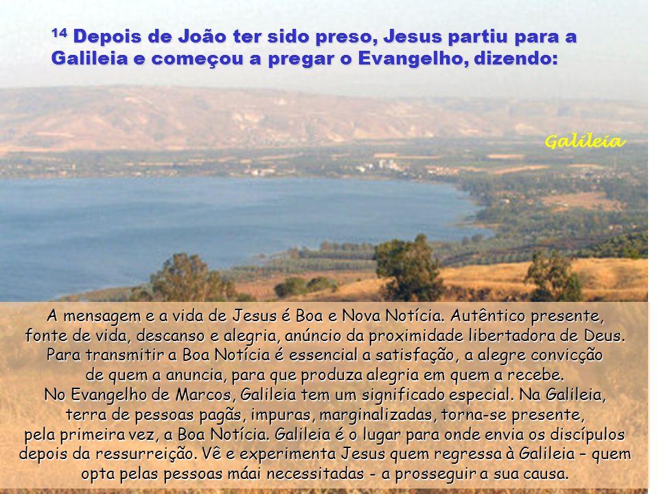 13 Jesus esteve no deserto quarenta dias e era tentado por satanás.