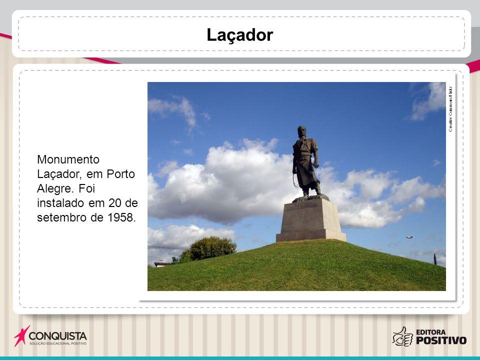 Laçador Creative Commons/Flickr Monumento Laçador, em Porto Alegre. Foi instalado em 20 de setembro de 1958.