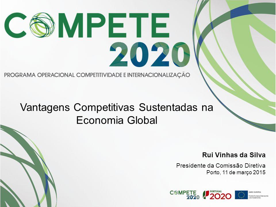 Rui Vinhas da Silva Presidente da Comissão Diretiva Porto, 11 de março 2015 Vantagens Competitivas Sustentadas na Economia Global