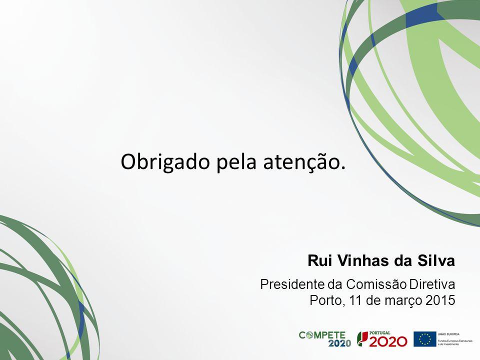 Obrigado pela atenção. Rui Vinhas da Silva Presidente da Comissão Diretiva Porto, 11 de março 2015