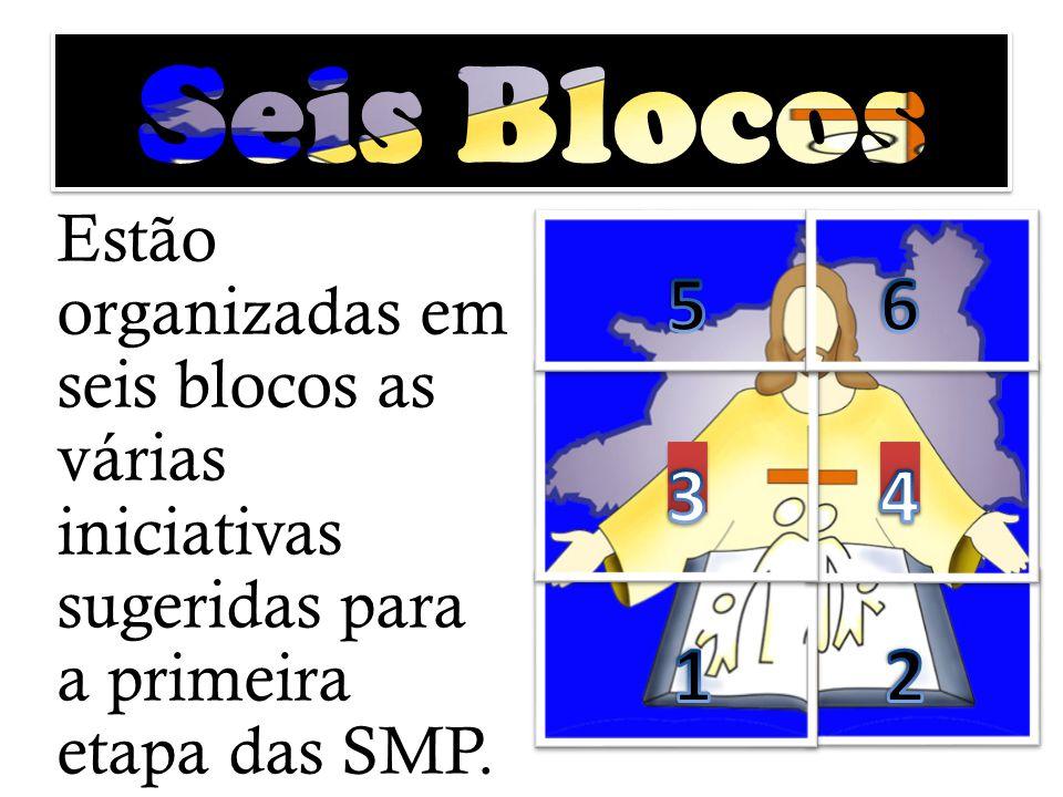 Estão organizadas em seis blocos as várias iniciativas sugeridas para a primeira etapa das SMP.