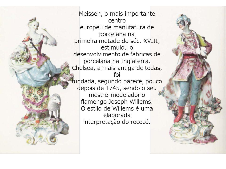 Meissen, o mais importante centro europeu de manufatura de porcelana na primeira metade do séc.