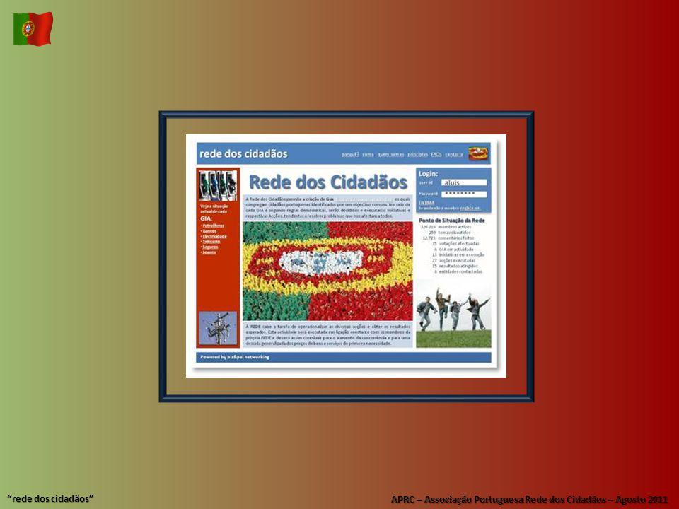 """APRC – Associação Portuguesa Rede dos Cidadãos – Agosto 2011 """"rede dos cidadãos"""""""