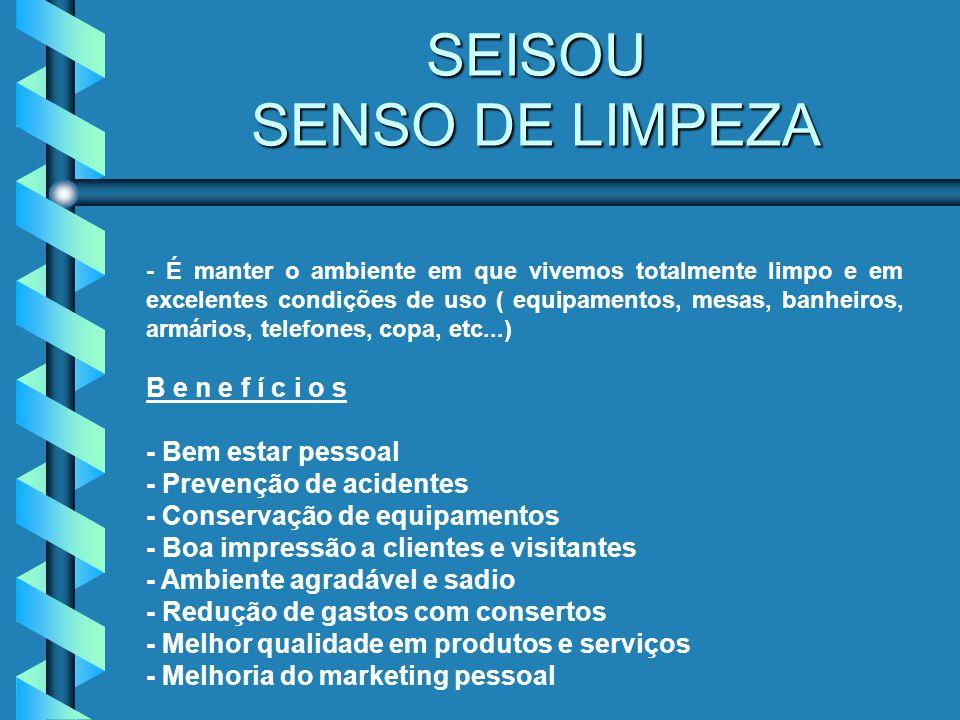SEIKETSU SENSO DE SAÚDE - È estar a todo instante criando e mantendo as condições físicas e mentais de trabalho favoráveis a saúde.