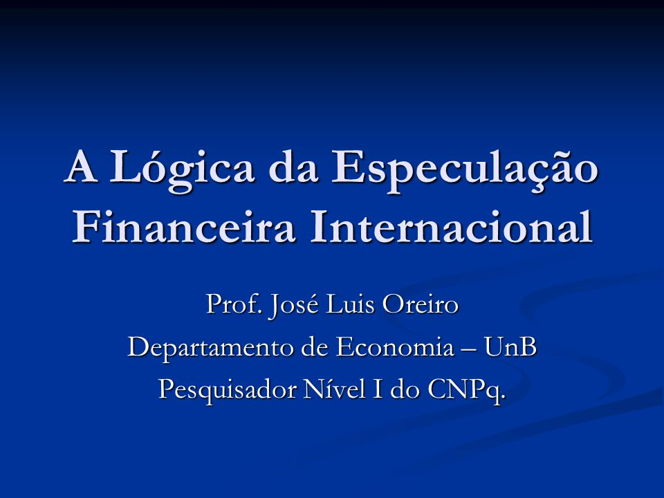 Referência da Aula Davidson, P.(1999). Global Employment and Open Economy Macroeconomics .