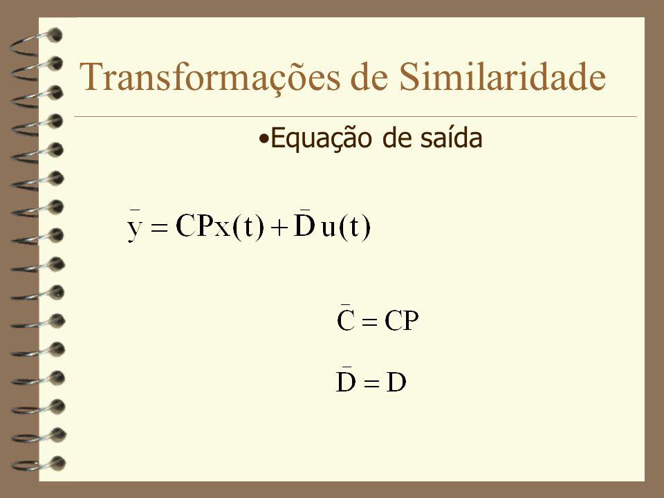 Transformações de Similaridade Equação de saída