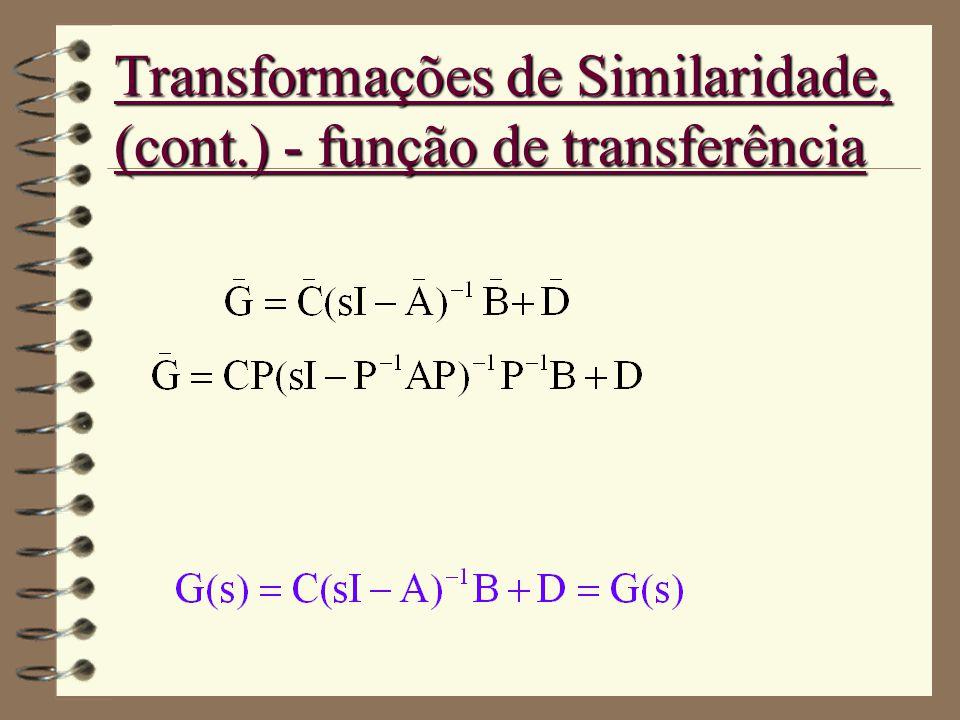Transformações de Similaridade, (cont.) - função de transferência