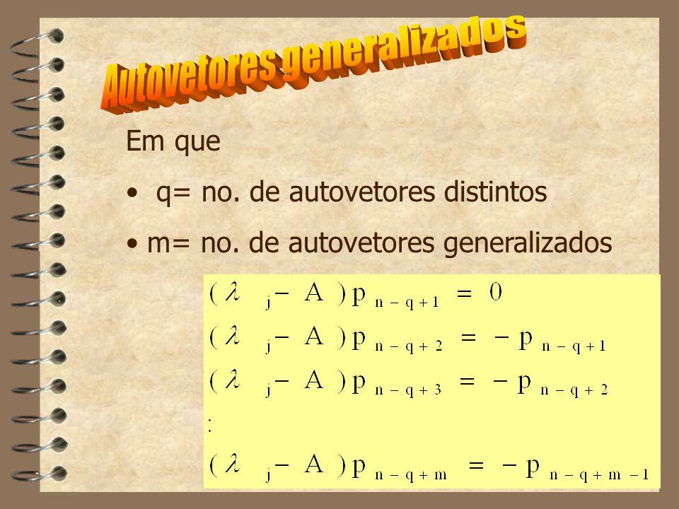 Algumas formas das matrizes que descrevem a equação de estado e de saída são de particular interesse no controle.