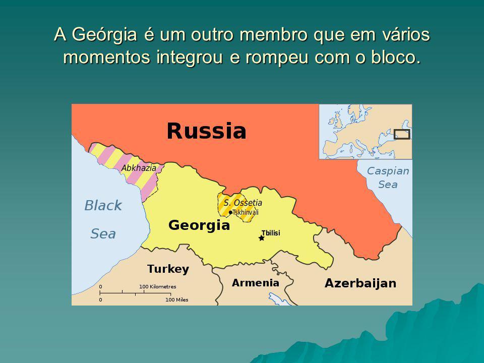 A Geórgia é um outro membro que em vários momentos integrou e rompeu com o bloco.