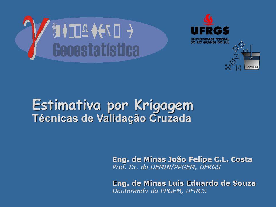 Eng.de Minas João Felipe C.L. Costa Prof. Dr. do DEMIN/PPGEM, UFRGS Eng.