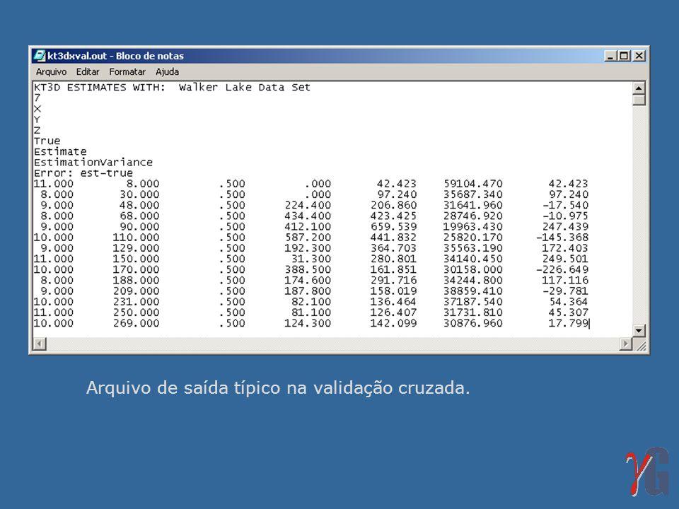Em cada localização onde uma estimativa foi realizada, temos um dado verdadeiro (v) e uma estimativa (v*).