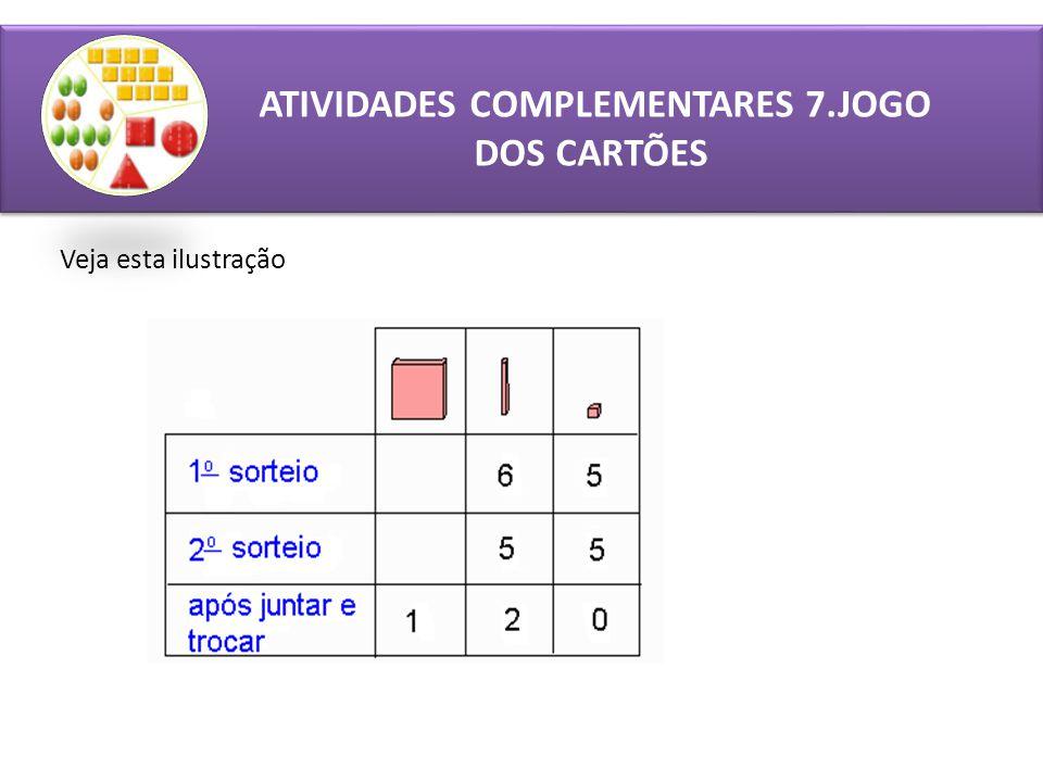 ATIVIDADES COMPLEMENTARES 7.JOGO DOS CARTÕES Veja esta ilustração