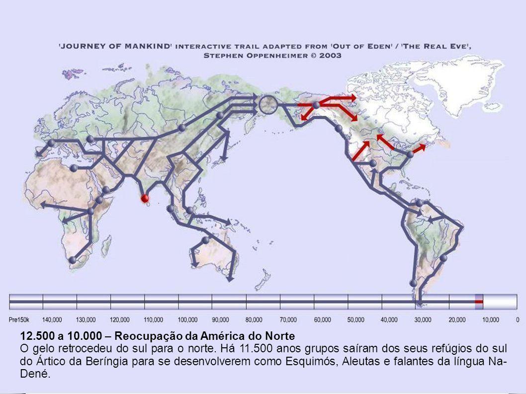 l 15.000 a 12.500 – Continua melhorando o clima global A rota costeira recomeçou.