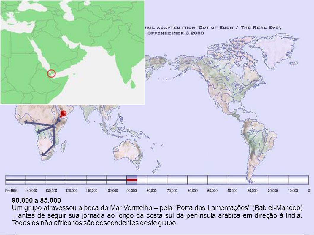 115.000 a 90.000 O grupo que chegou à Ásia Menor se extinguiu há uns 90.000 anos.