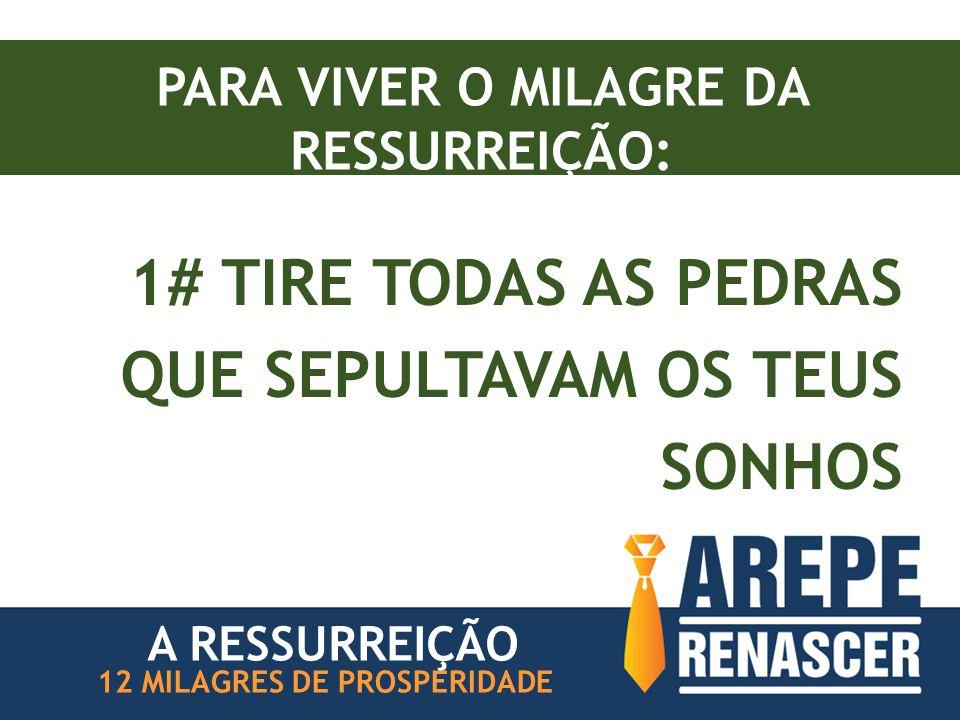 PARA VIVER O MILAGRE DA RESSURREIÇÃO: 1# TIRE TODAS AS PEDRAS QUE SEPULTAVAM OS TEUS SONHOS 12 MILAGRES DE PROSPERIDADE A RESSURREIÇÃO