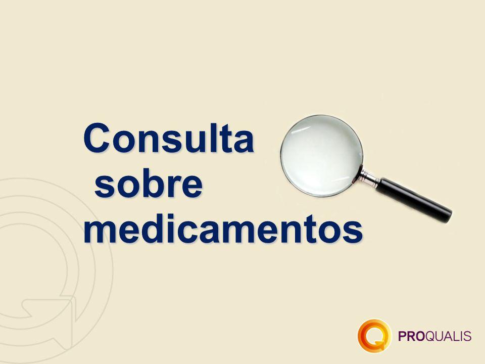 Consulta sobre medicamentos