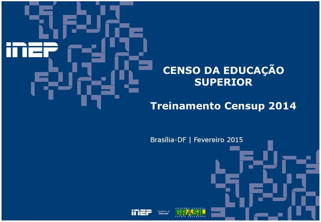 CENSO DA EDUCAÇÃO SUPERIOR Treinamento Censup 2014 Brasília-DF | Fevereiro 2015