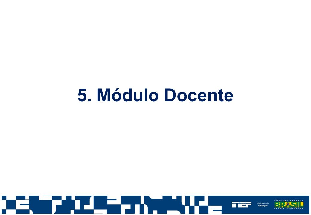 5. Módulo Docente