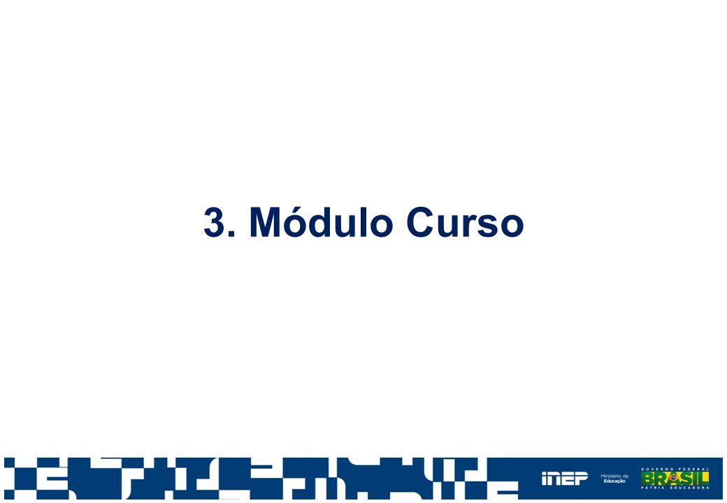 Módulo Curso Novas Regras Regra 3: se o curso possuir 0 (zero) vagas oferecidas de Programas Especiais, então o curso não poderá ter alunos ingressantes com forma de ingresso igual a Seleção para vagas de Programas Especiais.
