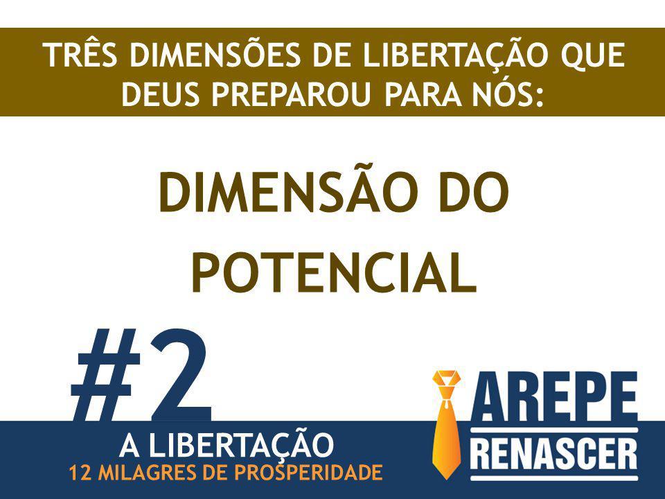 TRÊS DIMENSÕES DE LIBERTAÇÃO QUE DEUS PREPAROU PARA NÓS: DIMENSÃO DO POTENCIAL 12 MILAGRES DE PROSPERIDADE A LIBERTAÇÃO #2
