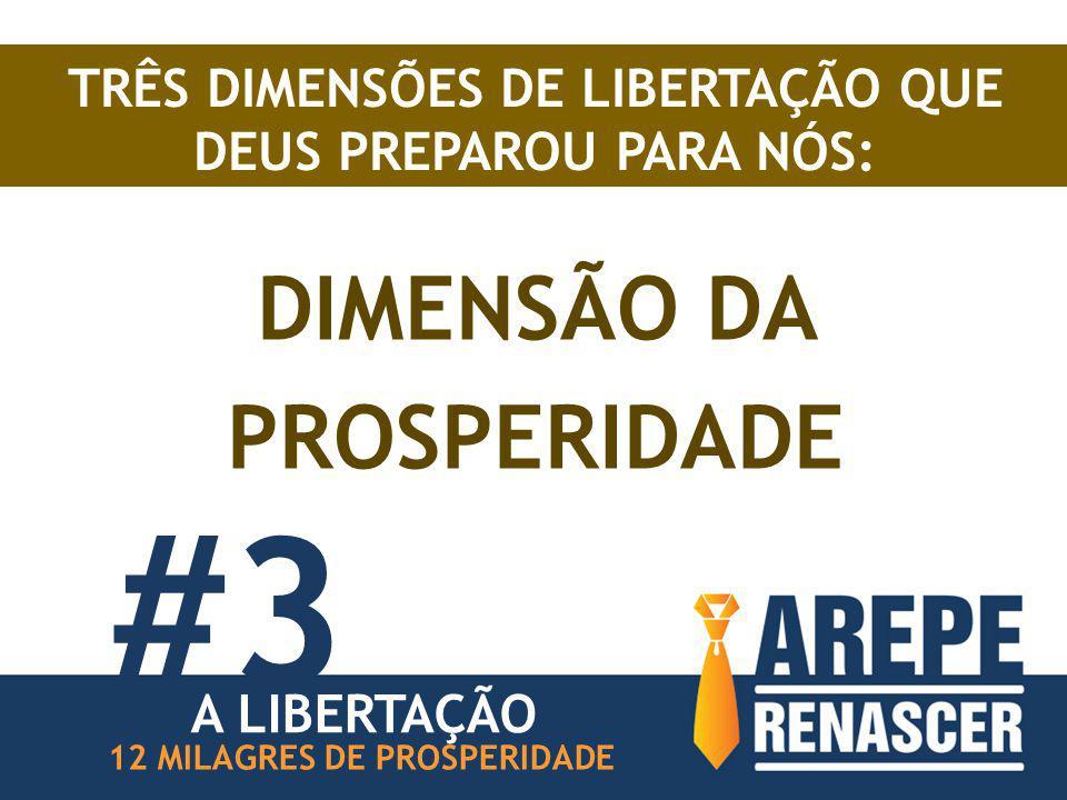 TRÊS DIMENSÕES DE LIBERTAÇÃO QUE DEUS PREPAROU PARA NÓS: DIMENSÃO DA PROSPERIDADE #3 12 MILAGRES DE PROSPERIDADE A LIBERTAÇÃO