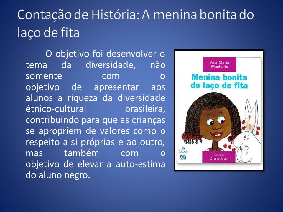 O objetivo foi desenvolver o tema da diversidade, não somente com o objetivo de apresentar aos alunos a riqueza da diversidade étnico-cultural brasile