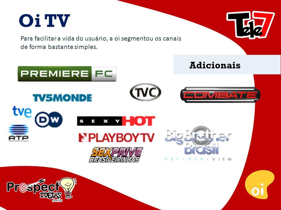 Oi TV Para faciiltar a vida do usuário, a oi segmentou os canais de forma bastante simples.