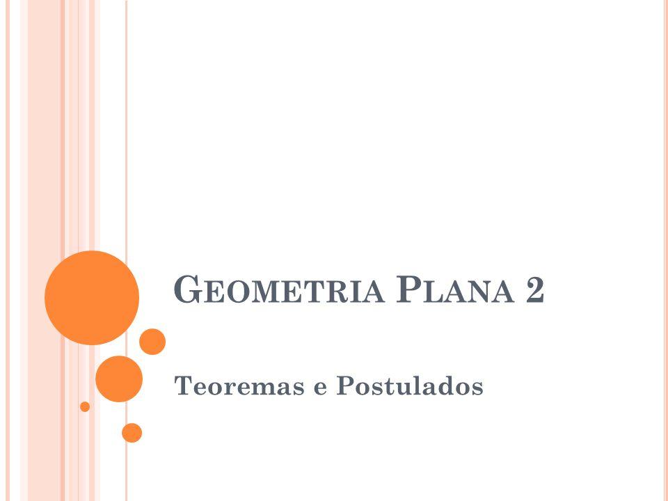 G EOMETRIA P LANA 2 Teoremas e Postulados