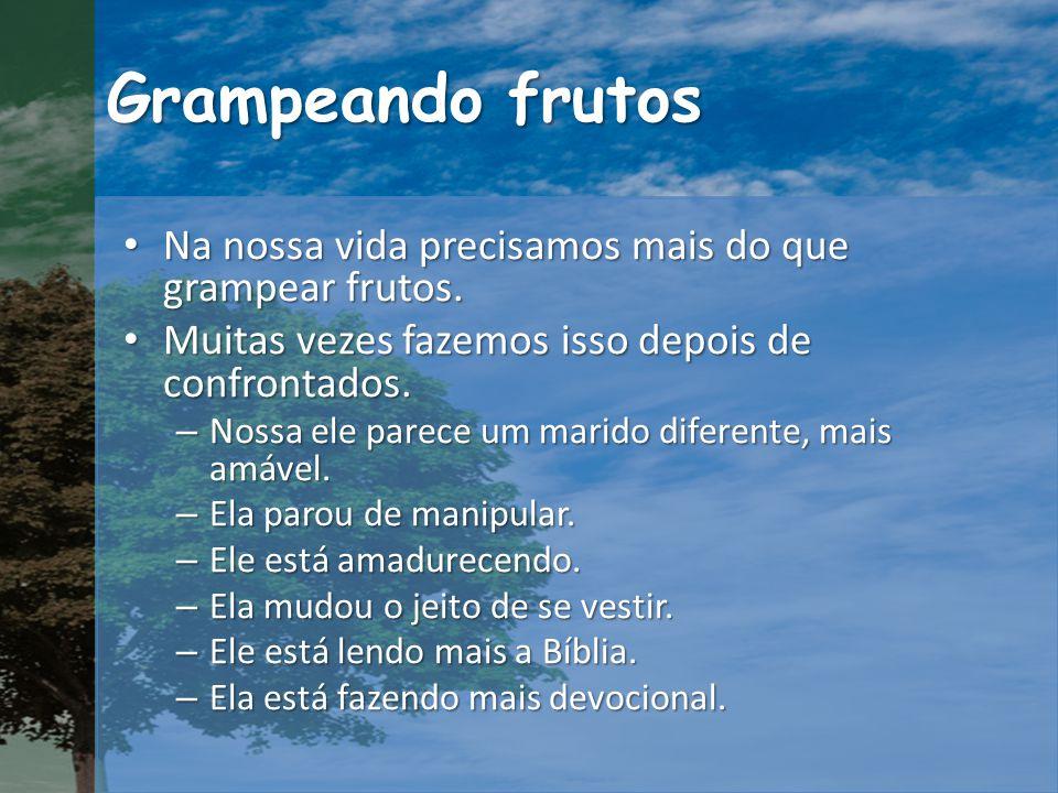 Grampeando frutos Na nossa vida precisamos mais do que grampear frutos.