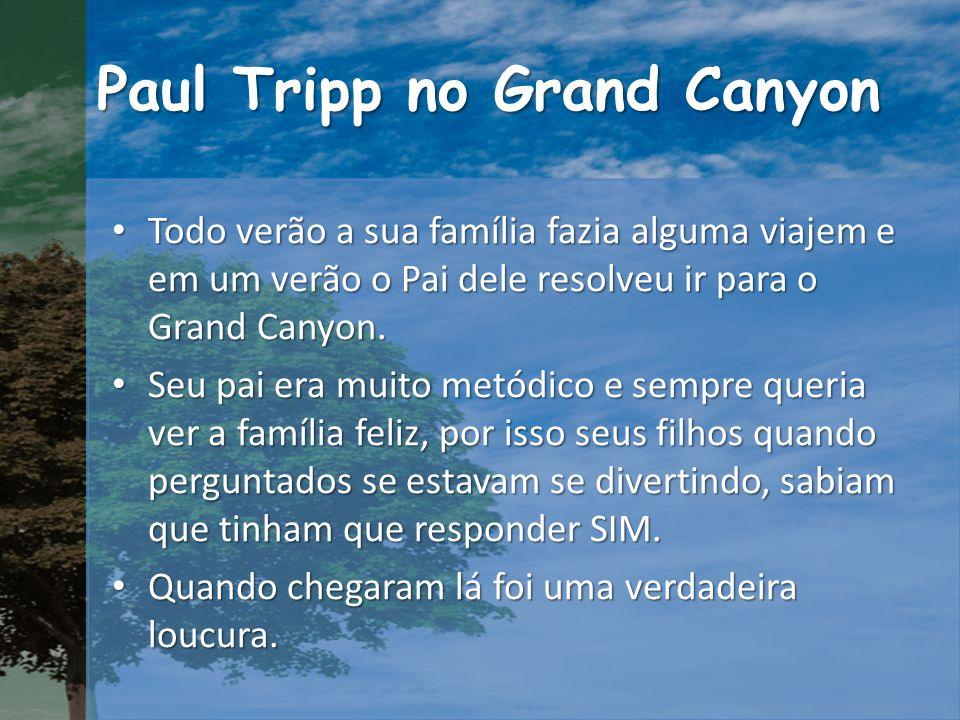 Paul Tripp no Grand Canyon Todo verão a sua família fazia alguma viajem e em um verão o Pai dele resolveu ir para o Grand Canyon.