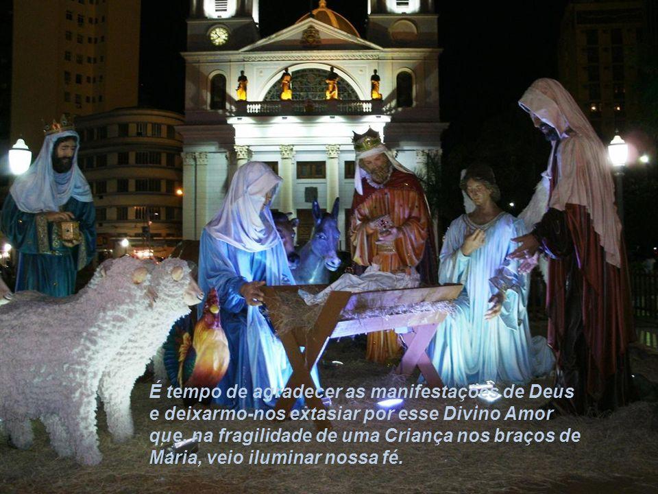 Natal é tempo... de contemplar o Menino Jesus e Sua Mãe e envolvermo-nos em silêncio orante.