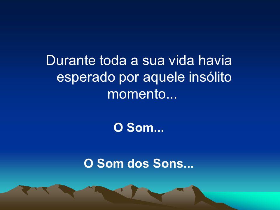 Durante toda a sua vida havia esperado por aquele insólito momento... O Som... O Som dos Sons...