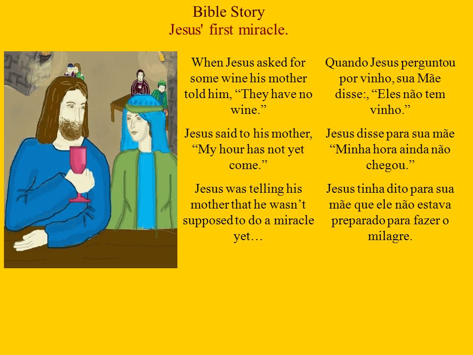 Bible Story Jesus first miracle.