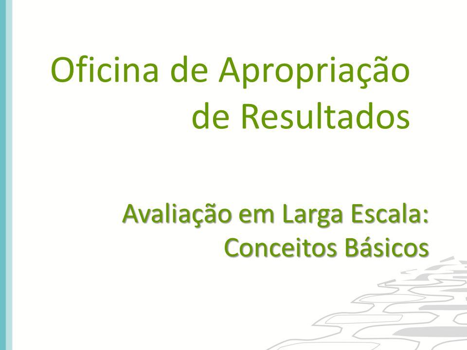 Oficina de Apropriação de Resultados Avaliação em Larga Escala: Conceitos Básicos