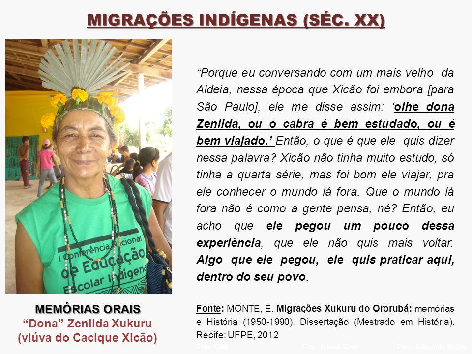 Foto: CIMIFoto: Edson SilvaFoto: Edmundo Monte MIGRAÇÕES INDÍGENAS (SÉC.