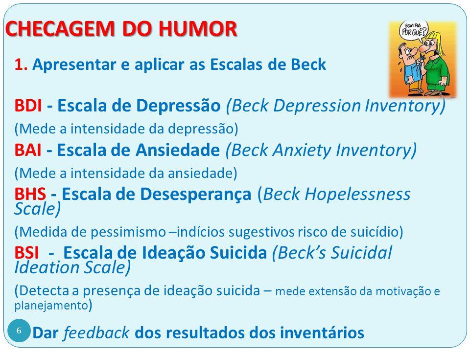 BDI - ESCALA DE DEPRESSÃO - (Beck Depression Inventory) 1.