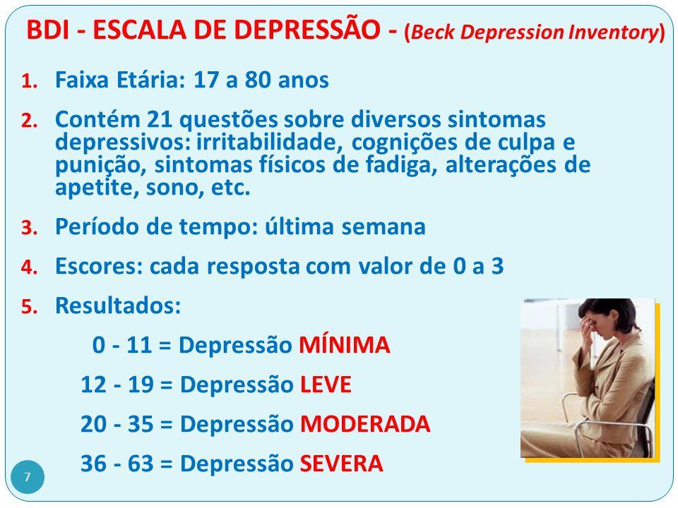 BAI – ESCALA DE ANSIEDADE - (Beck Anxiety Inventory) 1.