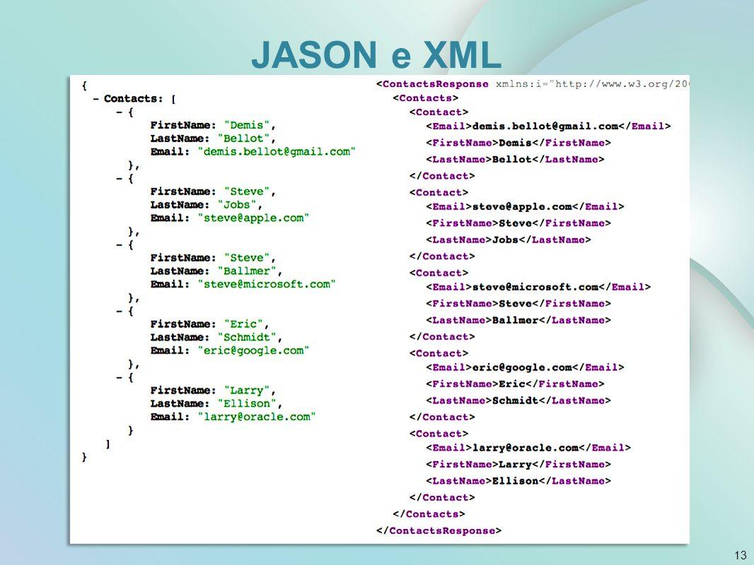 JASON e XML 13