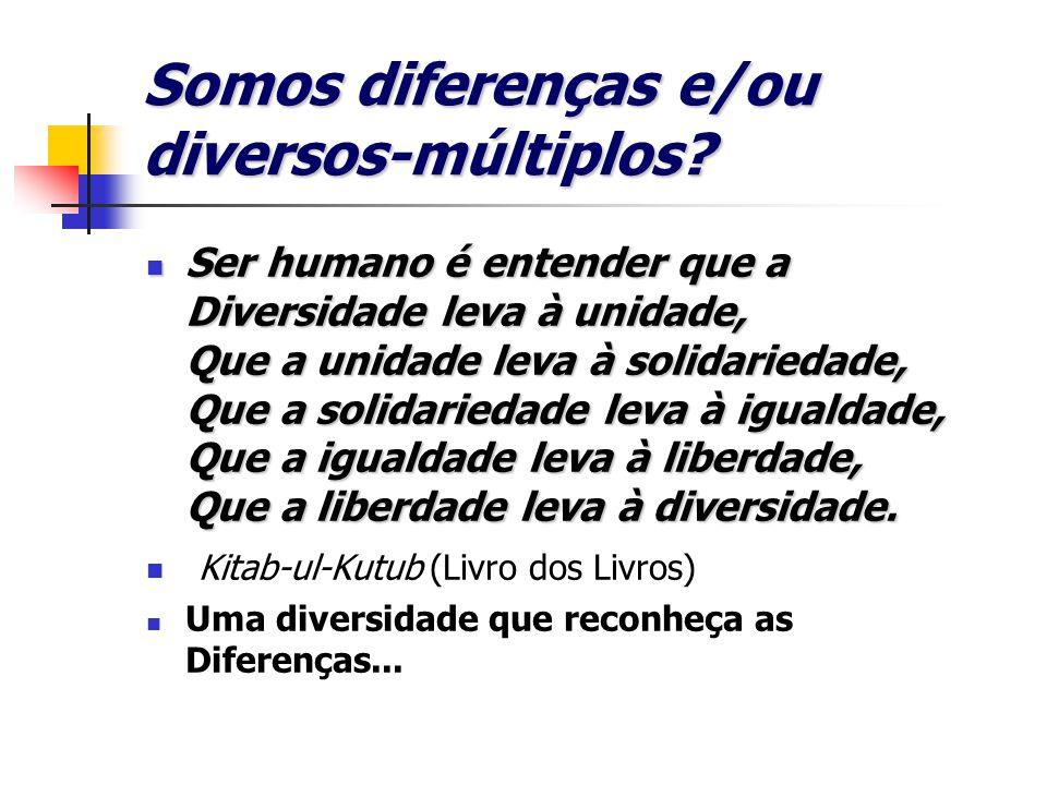Somos diferenças e/ou diversos-múltiplos.