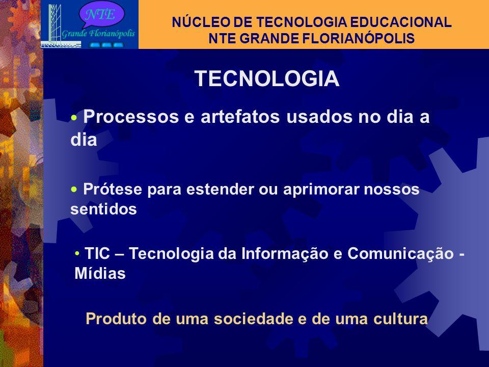 NÚCLEO DE TECNOLOGIA EDUCACIONAL NTE GRANDE FLORIANÓPOLIS  NTE – NÚCLEO DE TECNOLOGIA EDUCACIONAL  O COMPUTADOR : Hardware Software internet  TV ES