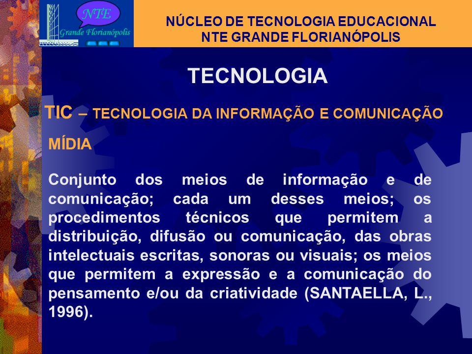 TECNOLOGIA NÚCLEO DE TECNOLOGIA EDUCACIONAL NTE GRANDE FLORIANÓPOLIS Processos e artefatos usados no dia a dia Prótese para estender ou aprimorar noss