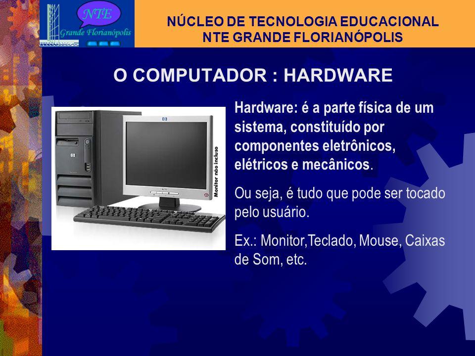 TECNOLOGIA NÚCLEO DE TECNOLOGIA EDUCACIONAL NTE GRANDE FLORIANÓPOLIS MÍDIA Conjunto dos meios de informação e de comunicação; cada um desses meios; os