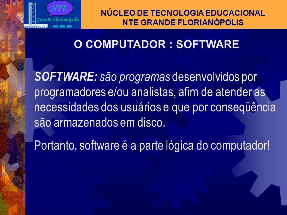 NÚCLEO DE TECNOLOGIA EDUCACIONAL NTE GRANDE FLORIANÓPOLIS Computador e Periféricos Impressora