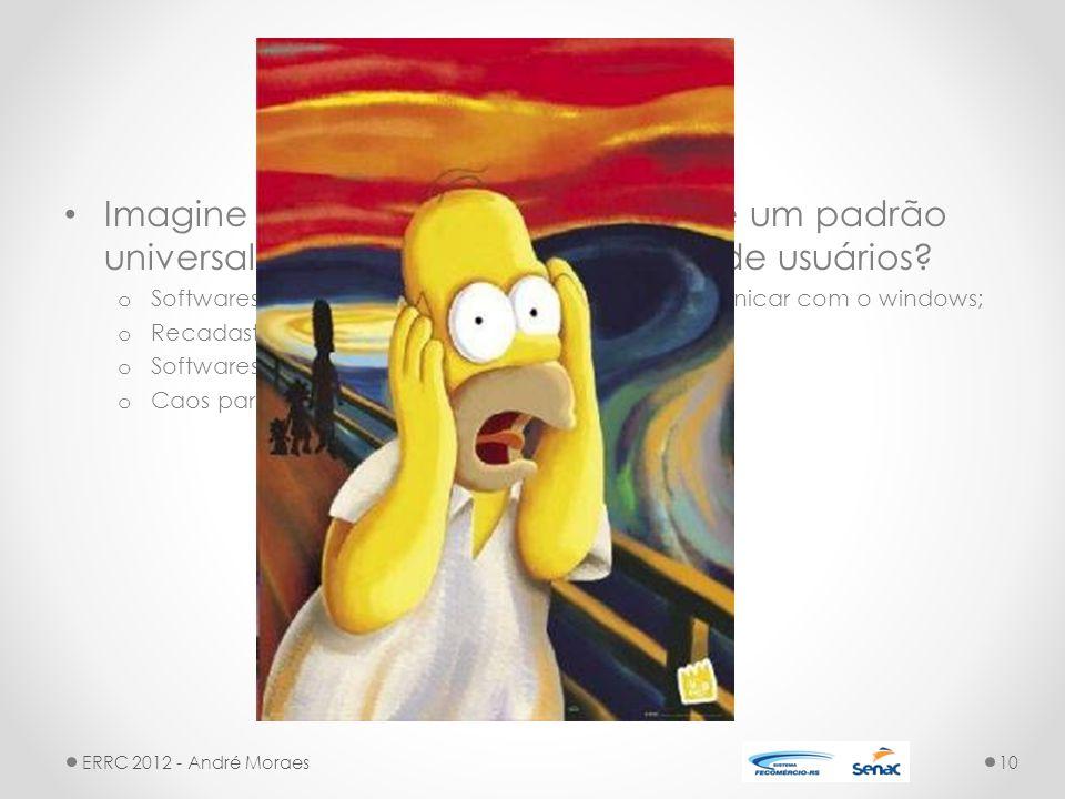 LDAP Imagine se a Microsoft não adotasse um padrão universal para armazenar os dados de usuários.