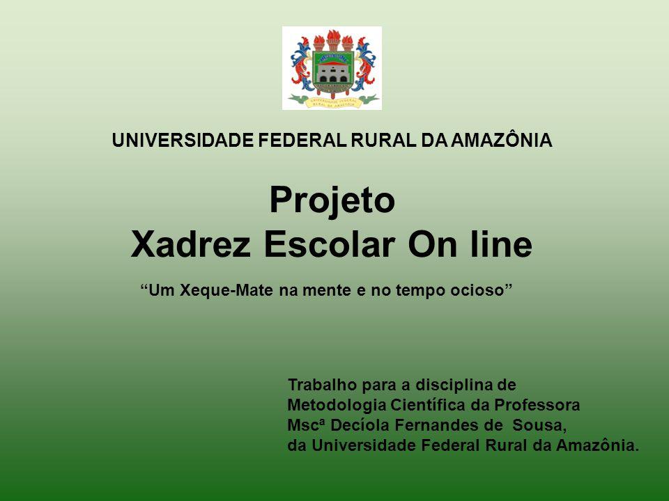 UNIVERSIDADE FEDERAL RURAL DA AMAZÔNIA Trabalho para a disciplina de Metodologia Científica da Professora Mscª Decíola Fernandes de Sousa, da Universidade Federal Rural da Amazônia.